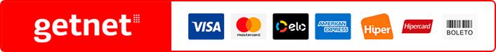 Logotipos de meios de pagamento do Getnet